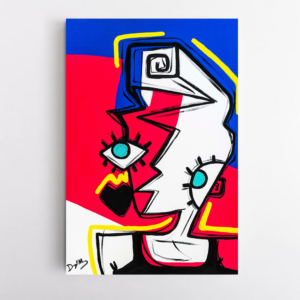 Obra de arte, A Nova-iorquina, Um Dedo de Arte - Diego Moura artista plástico