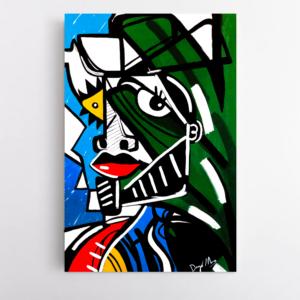 Obra de arte, O caçador, Um Dedo de Arte - Diego Moura artista plástico