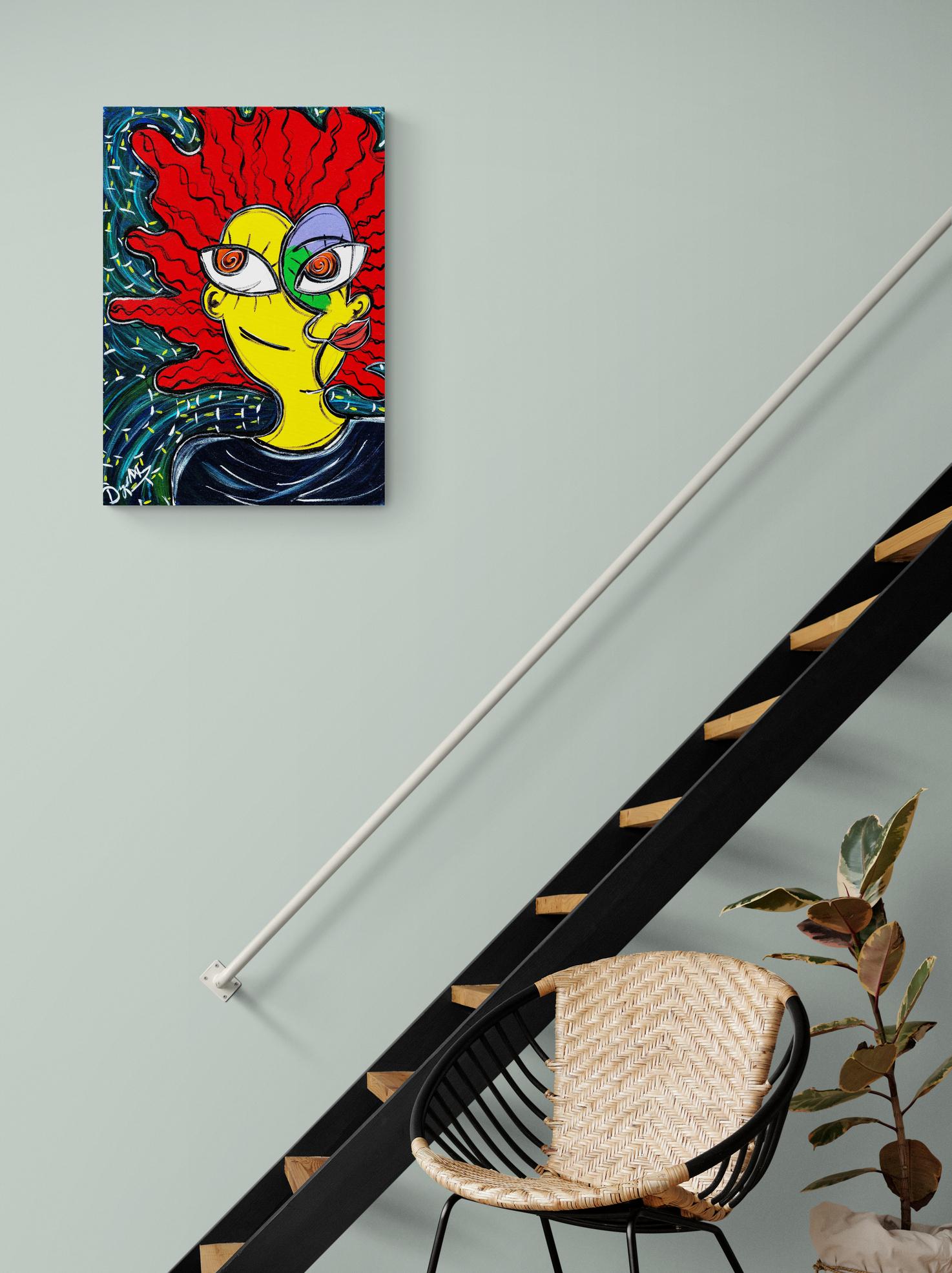 Obra de arte, O homem da noite, Um Dedo de Arte - Diego Moura artista plástico