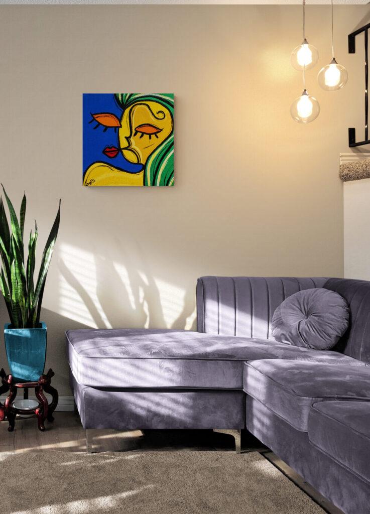 A romantica - Obra de arte Um dedo de arte - artista Diego Moura