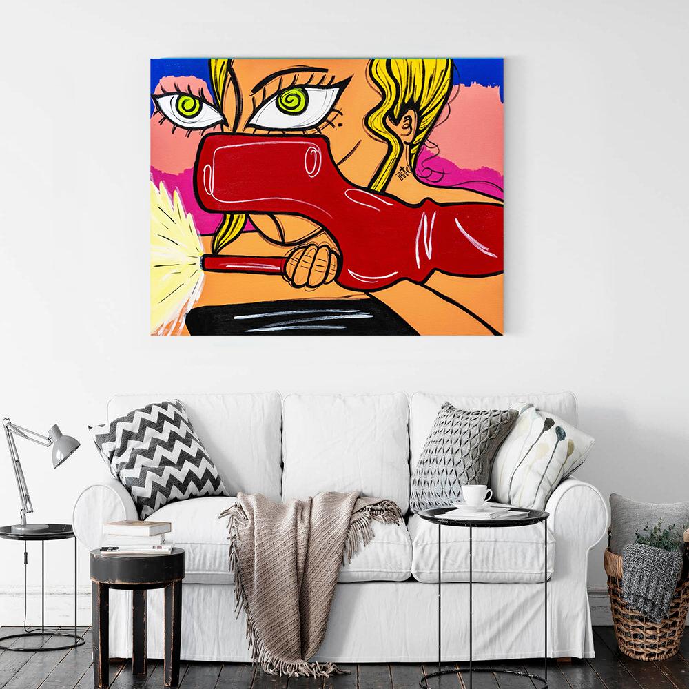 Obra de arte, Lady Gaga - John Wayne, Um Dedo de Arte - Diego Moura artista plástico