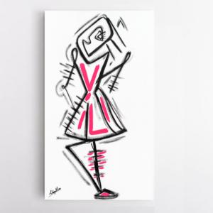Obra de arte, A Bailarina, Um Dedo de Arte - Diego Moura artista plástico