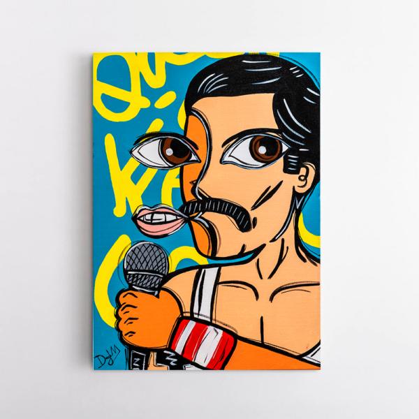 Obra de arte Freddie Mercury, Um Dedo de Arte - Diego Moura artista plástico