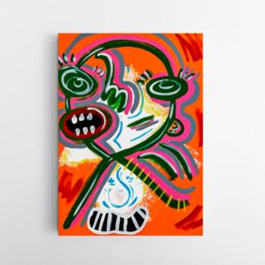 Obra de arte, O menino, Um Dedo de Arte - Diego Moura artista plástico